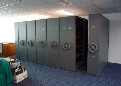Audi Dept 2nd Floor Wintech Mechanical Compactor 24 Bays With 2 Coloumn