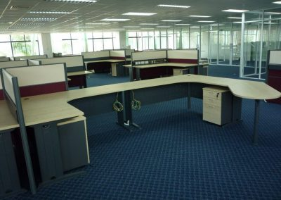 Audit Dept 2 Floor Manager Workstation Back View