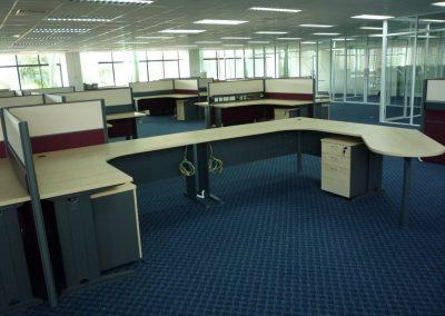 Audit Dept 2 Floor Manager Workstation Back View
